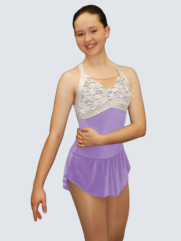 Lace skating dresses