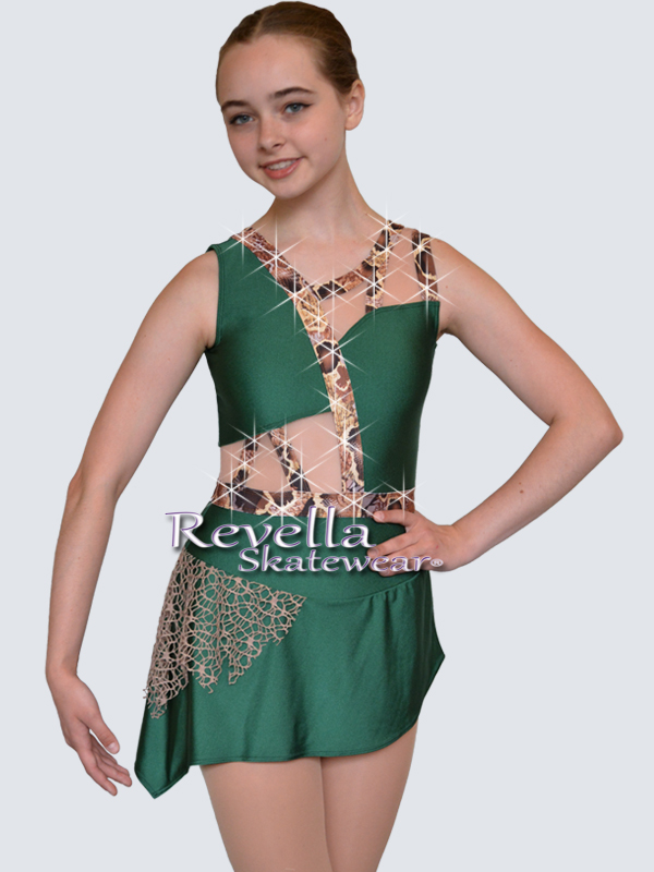 New Womens Adult Ice Skating Dress Dance Competition Costume Figure Skater Skirt