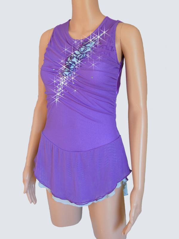 Details about  /Royal Blue Skating Dress Figure skaitng Dress purple lycra For Competition