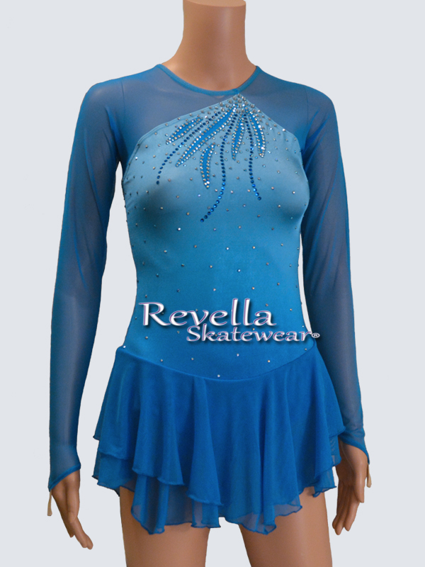 Details about  /Ice Figure Skating Dress Custom Competition Dress beaded dark green handmade